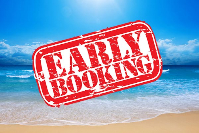 Early booking discount for summer 2019